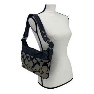 COACH Signature Shoulder Bag MEDIUM Black/Gray